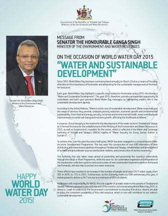 World Water day Minister Message